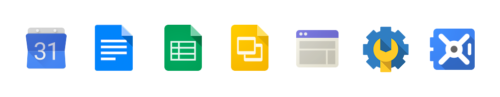 Google products logo icons, all Google product icons