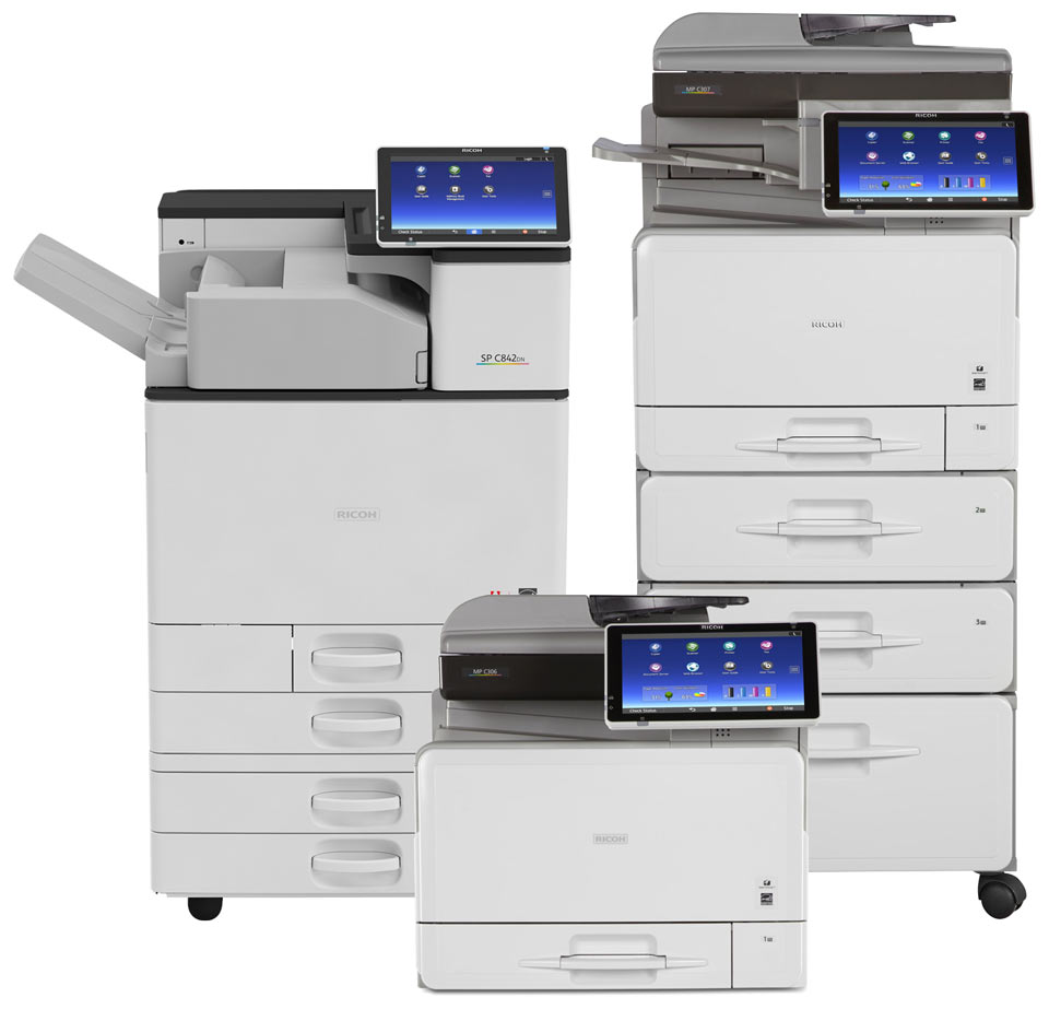 Group of Ricoh MFP's