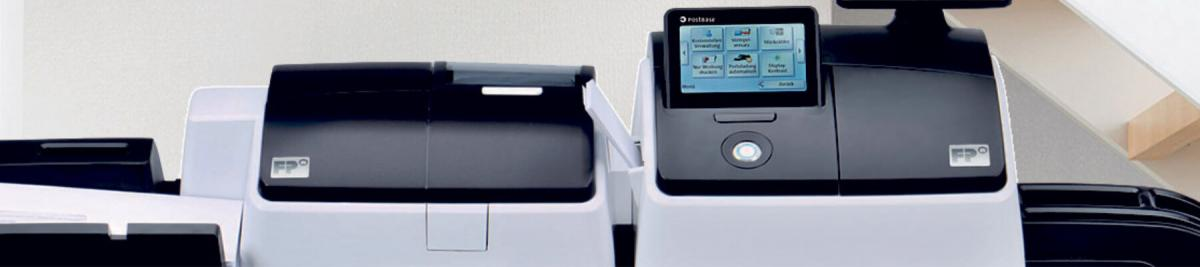 close-up image of a printer mailing system