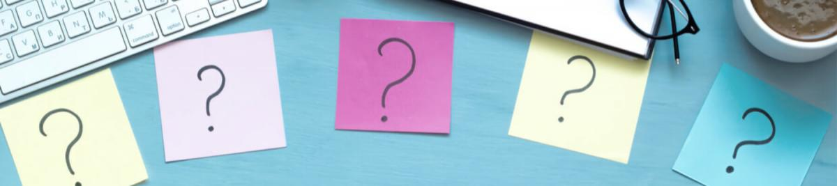 top 5 question with post it notes and desktop